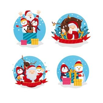 Decoración navideña pegatinas
