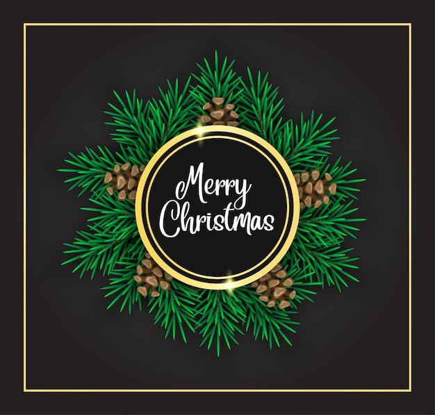 Decoración navideña con piña y forma dorada
