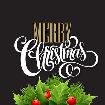 Decoración navideña en pizarra, tarjeta de felicitación