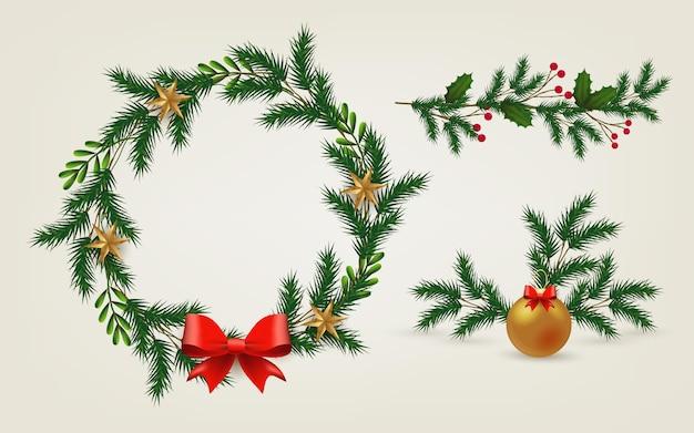 Decoración navideña realista