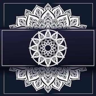 Decoración de ornamento de fondo de mandala de lujo