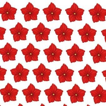Decoración de papel pintado de geranio de flor