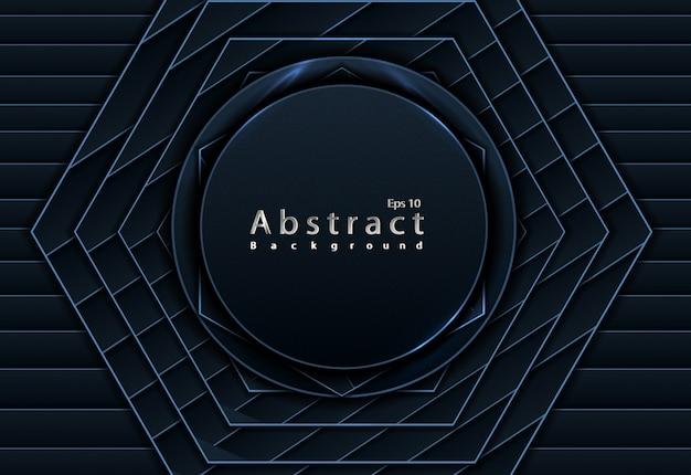 Decoración de papercut abstracta de fondo de corte de papel negro