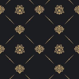 Decoración de patrones sin fisuras vintage. papel pintado arte antiguo