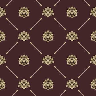 Decoración de patrones sin fisuras vintage