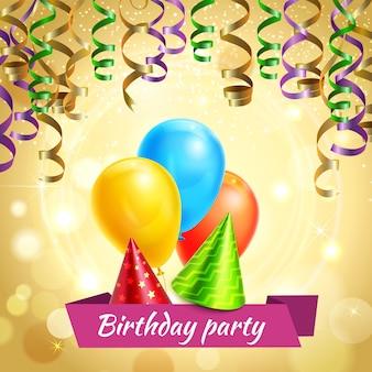 Decoraciones de celebración de cumpleaños realistas