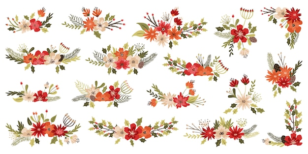 Decoraciones florales de navidad