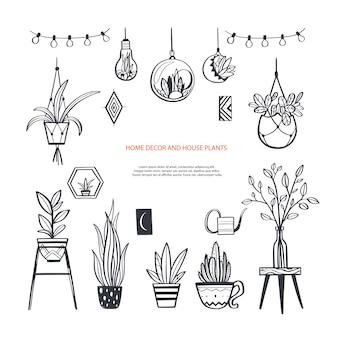 Decoraciones para el hogar y elementos de diseño de interiores.