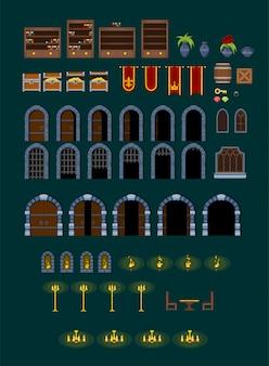 Decoraciones del juego del castillo