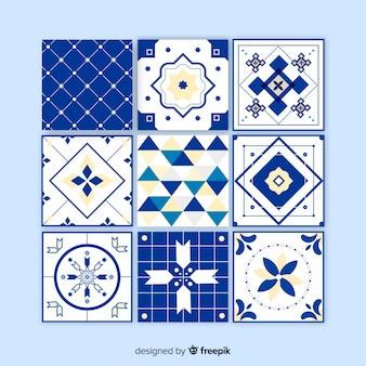 Decorativo conjunto de azulejos