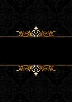 Decorativo fondo elegante en negro y oro.