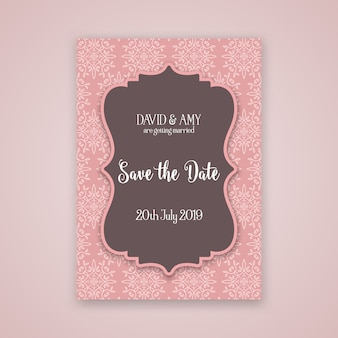 Decorativo guarda el diseño de la fecha de invitación.