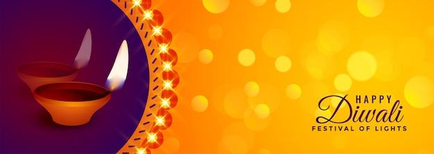 Deepawali celebración hermoso festival banner