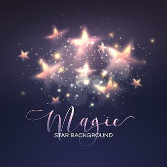 Defocused fondo estrella mágica. ilustración vectorial