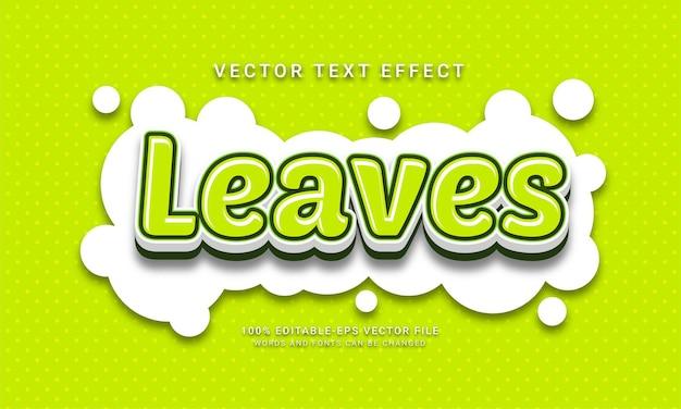Deja efecto de texto editable con temática natural fresca.