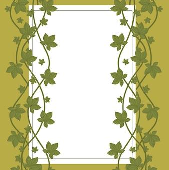 Deja el follaje naturaleza decoración orgánica etiqueta fondo blanco ilustración