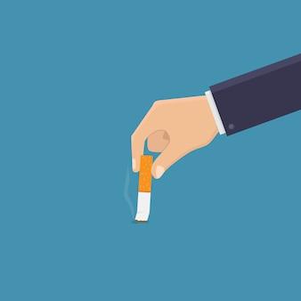 Deja de fumar, apaga el cigarrillo