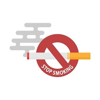 Deja de fumar un cigarrillo. concepto de un insalubre