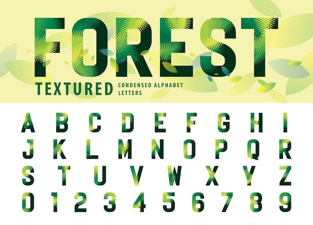 Deja textura alfabeto letras y números