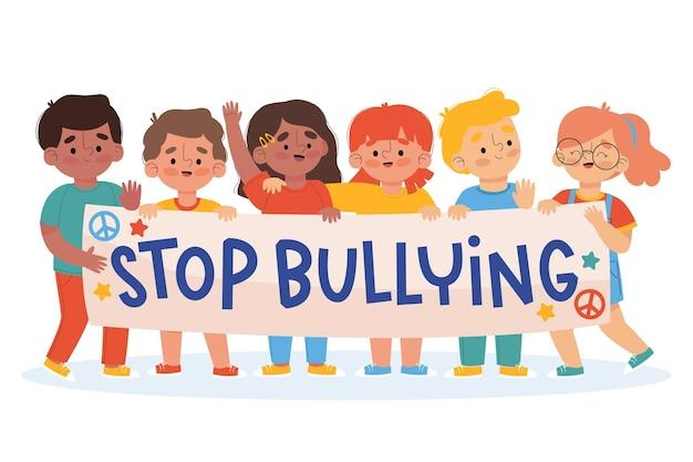 Dejar de bullying concepto de ilustración