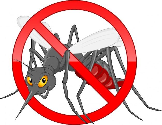 Dejar de dibujos animados de mosquitos