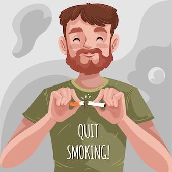 Dejar de fumar ilustración