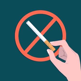 Dejar de fumar muestra ilustrada