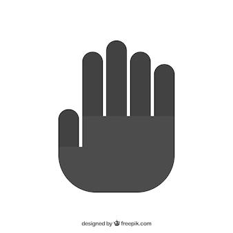 Dejar de silueta de la mano