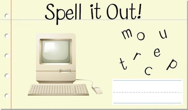 Deletrear inglés word computer