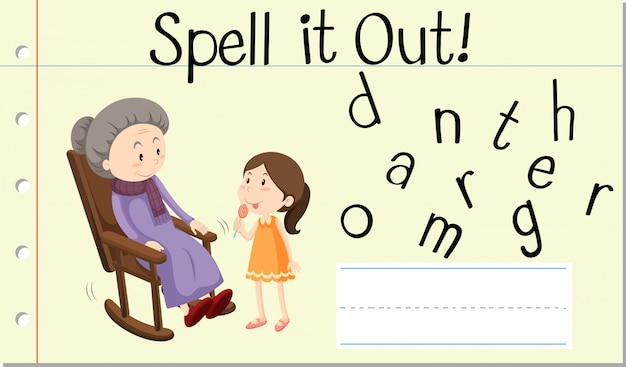 Deletrear palabra inglesa abuela