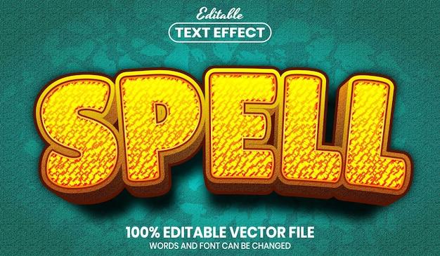 Deletrear texto, efecto de texto editable