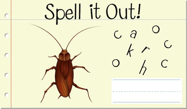 Deletrearlo cucaracha