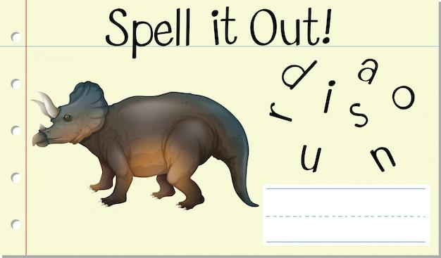 Deletrearlo dinosaurio