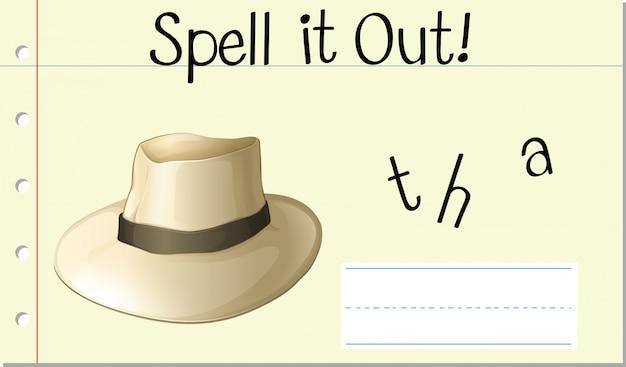 Deletrearlo sombrero
