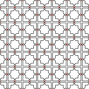 Delicado patrón sin costuras en estilo islámico