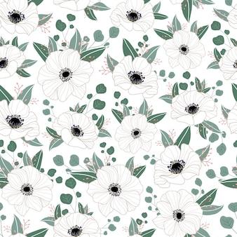 Delicado patrón floral sin fisuras