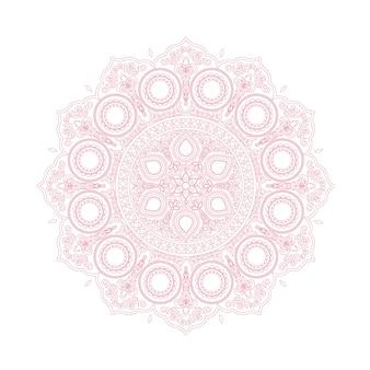 Delicado patrón de mandala de encaje rosa en estilo boho
