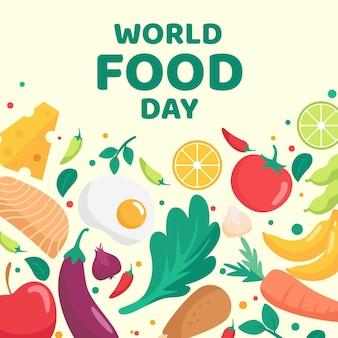 Deliciosa comida orgánica día mundial de la alimentación.