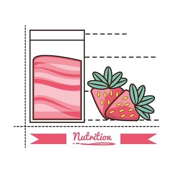 Deliciosa comida saludable con ingredientes de nutrición