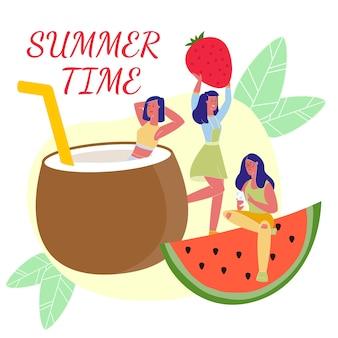 Deliciosa comida de verano. hora de verano