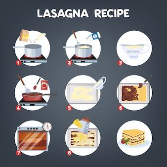 Deliciosa receta de lasaña para cocinar en casa.