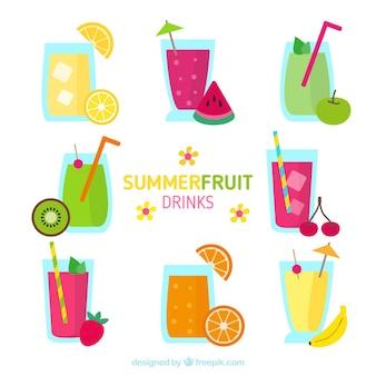 Deliciosas bebidas de fruta veraniegas