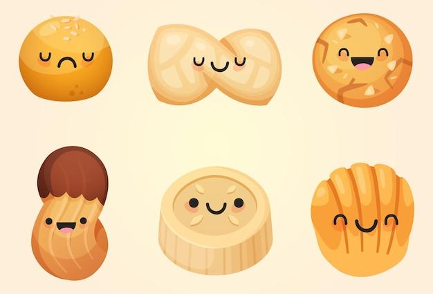 Deliciosas galletas kawaii lindo