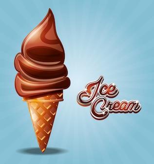 Delicioso cono de helado