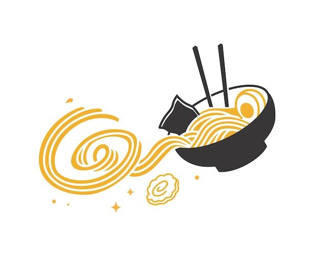 Delicioso diseño de fideos ramen.