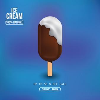 Delicioso helado en palito.