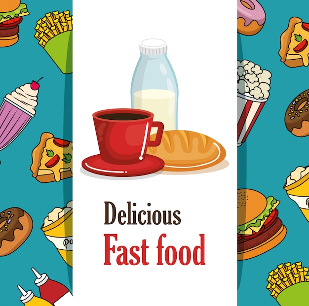 Delicioso menú de comida rápida