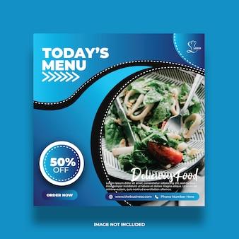 Delicioso menú de hoy restaurante abstracto comida redes sociales publicar plantilla de promoción abstracta