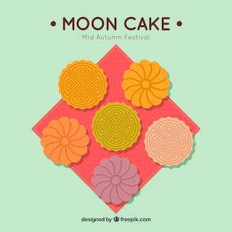 Delicioso pastel de luna de festival de mediados de otoño