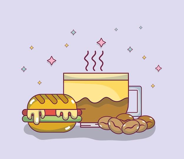 Deliciosos dibujos animados de desayuno